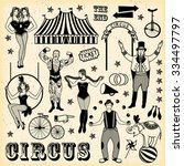 pattern of the circus | Shutterstock .eps vector #334497797