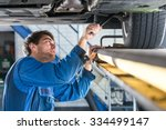 mechanic  examining the... | Shutterstock . vector #334499147