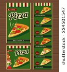 slices of pizza and the... | Shutterstock .eps vector #334501547