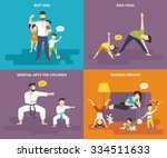 family with children people... | Shutterstock .eps vector #334511633