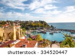 old town  kaleici  in antalya ... | Shutterstock . vector #334520447