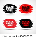 set of black friday sale hand... | Shutterstock .eps vector #334530923