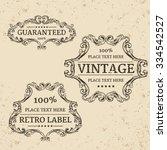 calligraphic design elements ... | Shutterstock .eps vector #334542527