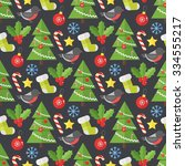 christmas background. vector... | Shutterstock .eps vector #334555217