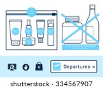 liquids in carry on baggage.... | Shutterstock .eps vector #334567907
