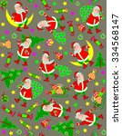 seamless pattern with funny... | Shutterstock .eps vector #334568147
