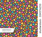 abstract colorful dotted... | Shutterstock .eps vector #334576253