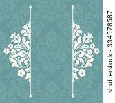 vintage background.  floral... | Shutterstock .eps vector #334578587