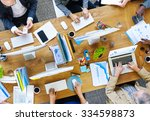 business people technology... | Shutterstock . vector #334598873