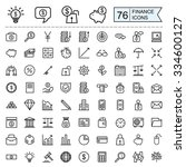 finance icons collection in...