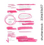 pink marker text selection... | Shutterstock .eps vector #334655657