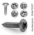 Phillips Screws Set. Isolated...