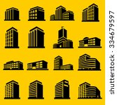 buildings icons vector | Shutterstock .eps vector #334679597
