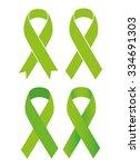 symbol of scoliosis. green...   Shutterstock .eps vector #334691303