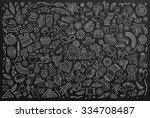 chalkboard vector hand drawn... | Shutterstock .eps vector #334708487