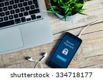 secure payment notification in... | Shutterstock . vector #334718177