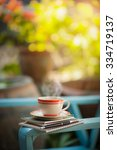 coffee cup  notebooks  and pen... | Shutterstock . vector #334719137