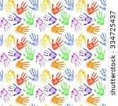 Colorful Watercolor Hand Print...