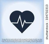 heartbeat vector icon   Shutterstock .eps vector #334732313