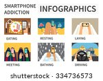 smartphone addiction... | Shutterstock .eps vector #334736573