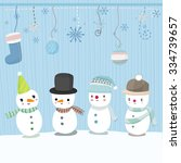 vector christmas greeting card. ... | Shutterstock .eps vector #334739657