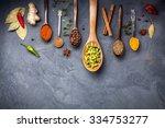 Various Spices Like Turmeric ...