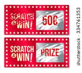 scratch card game and win. with ... | Shutterstock .eps vector #334761353