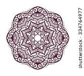 vector mandala ornament. round... | Shutterstock .eps vector #334764977