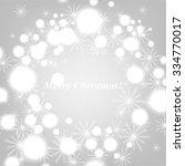christmas glowing lights. merry ... | Shutterstock .eps vector #334770017
