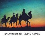 three kings desert star of... | Shutterstock . vector #334772987