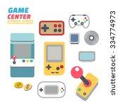 game center   flat design... | Shutterstock .eps vector #334774973