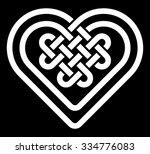 celtic heart shape knot vector...