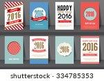 set of  happy new year... | Shutterstock .eps vector #334785353