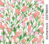 floral seamless pattern.... | Shutterstock . vector #334788443