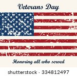 american flag vintage textured... | Shutterstock .eps vector #334812497
