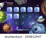 cartoon space vector background ...