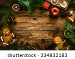 christmas food. gingerbread man ... | Shutterstock . vector #334832183
