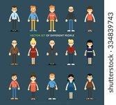 People Characters. People Set....