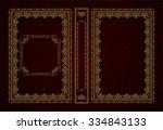 vector classical book cover.... | Shutterstock .eps vector #334843133