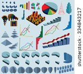 huge set with isometric... | Shutterstock .eps vector #334843217