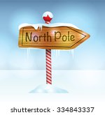 a christmas illustration of a... | Shutterstock .eps vector #334843337