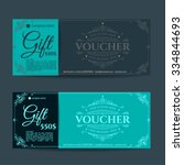 retro gift voucher and a place... | Shutterstock .eps vector #334844693