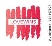 rainbow heart shape love vector ... | Shutterstock .eps vector #334847927