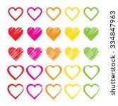 rainbow heart shape love vector ... | Shutterstock .eps vector #334847963