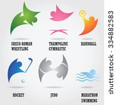 set of abstract sport logos. | Shutterstock .eps vector #334882583