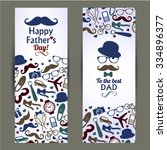 fathers day set of banners... | Shutterstock .eps vector #334896377