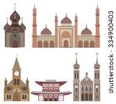 vector illustration of temples. ... | Shutterstock .eps vector #334900403