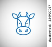 cow icon | Shutterstock .eps vector #334907087