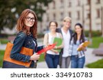 education  campus  friendship... | Shutterstock . vector #334910783