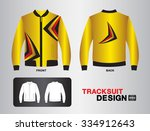 yellow tracksuit design vector... | Shutterstock .eps vector #334912643